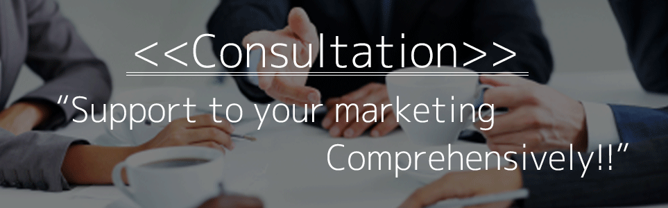 Consulting Support to your marketing comprehensively!